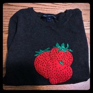 French connection size S woman grey strawberry